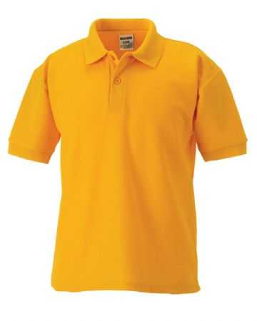 MILLER ACADEMY PRIMARY SCHOOL PURE GOLD  POLO SHIRT WITH LOGO